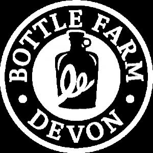 Bottle farm logo white