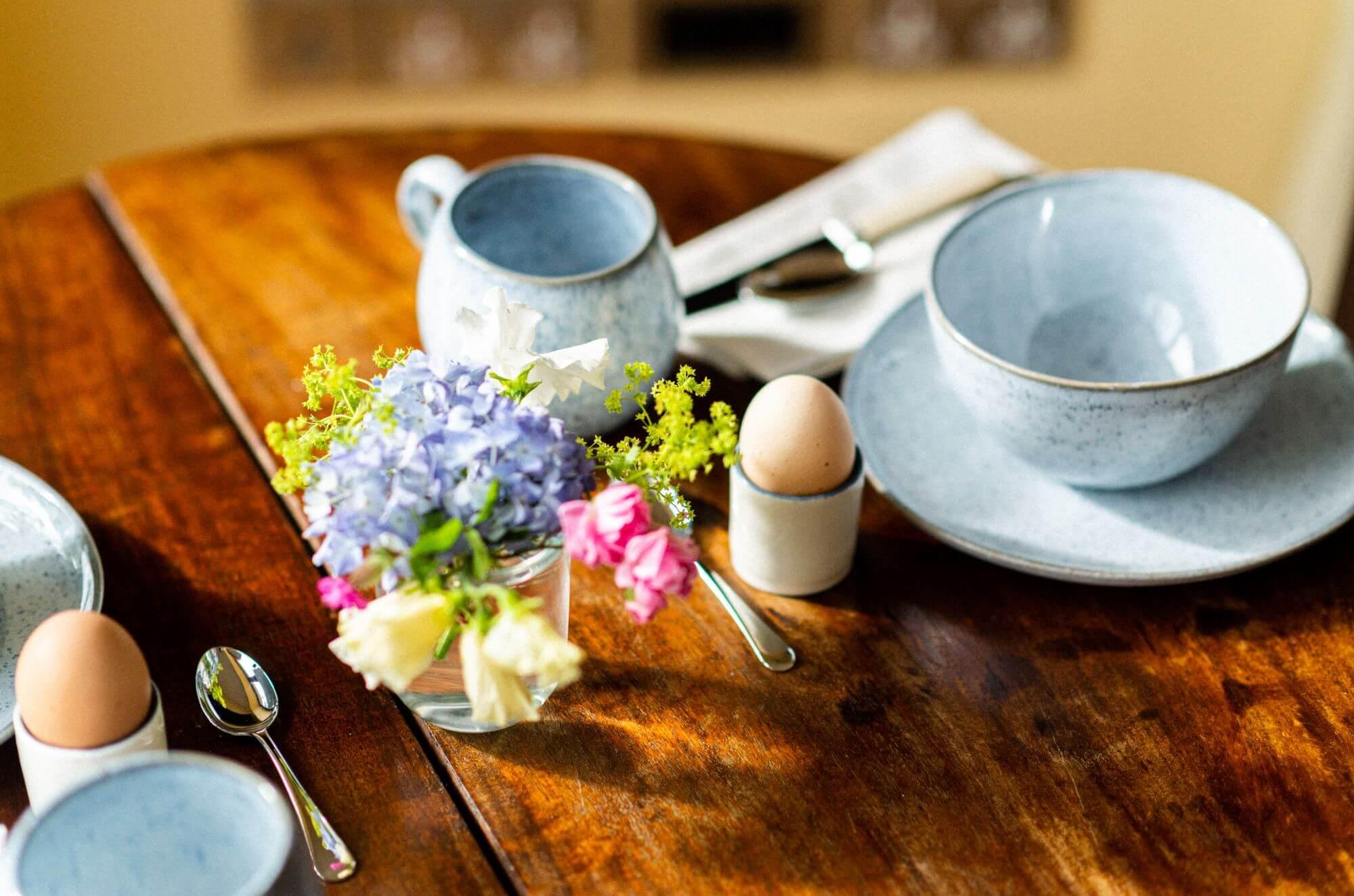 Meadow Barn Devon Holiday Cottage Breakfast
